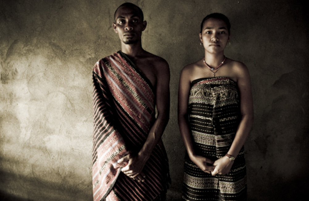 Portrait of a young couple from Tutuala. Photo by UNMIT/Martine Perret