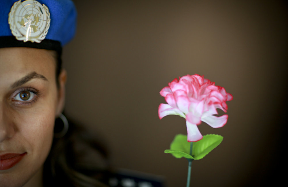 Portrait of a UN Police officer from Romania. Photo by UNMIT/Martine Perret