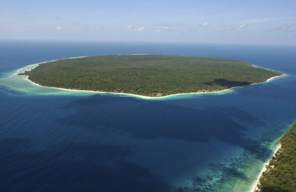 Aerial photo of Jaco Island in the Konis Santana National Park. Photo by UNMIT/Martine Perret