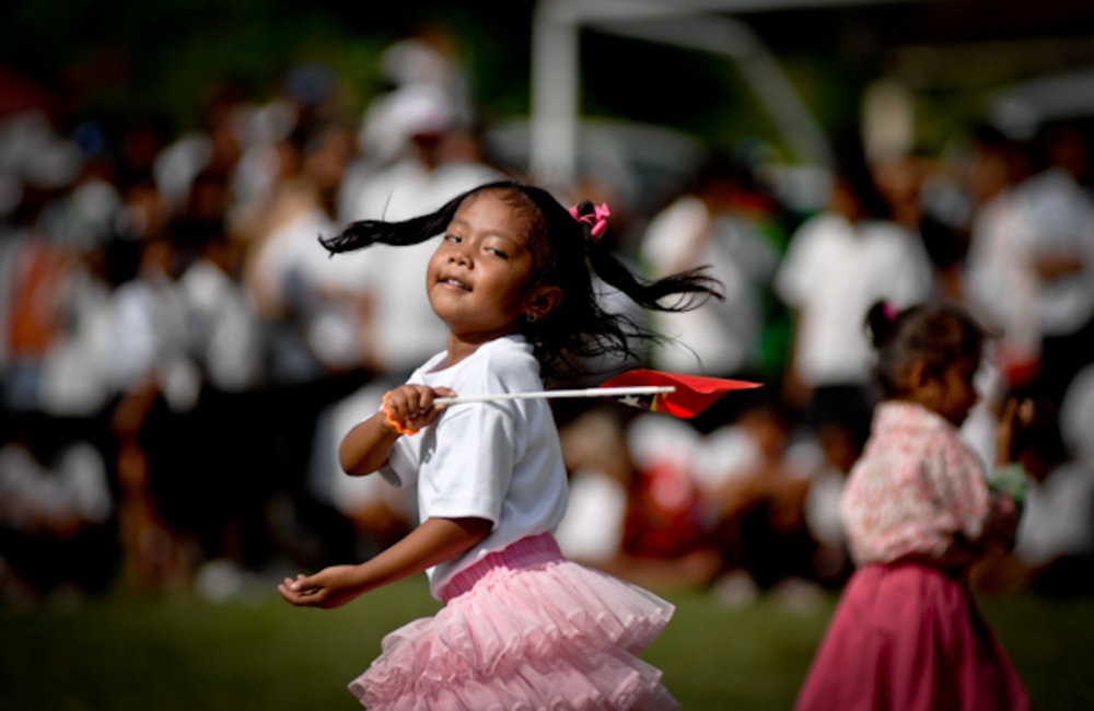 Children dance to celebrate the World Children's Day in Viqueque district. Photo by Bernardino Soa