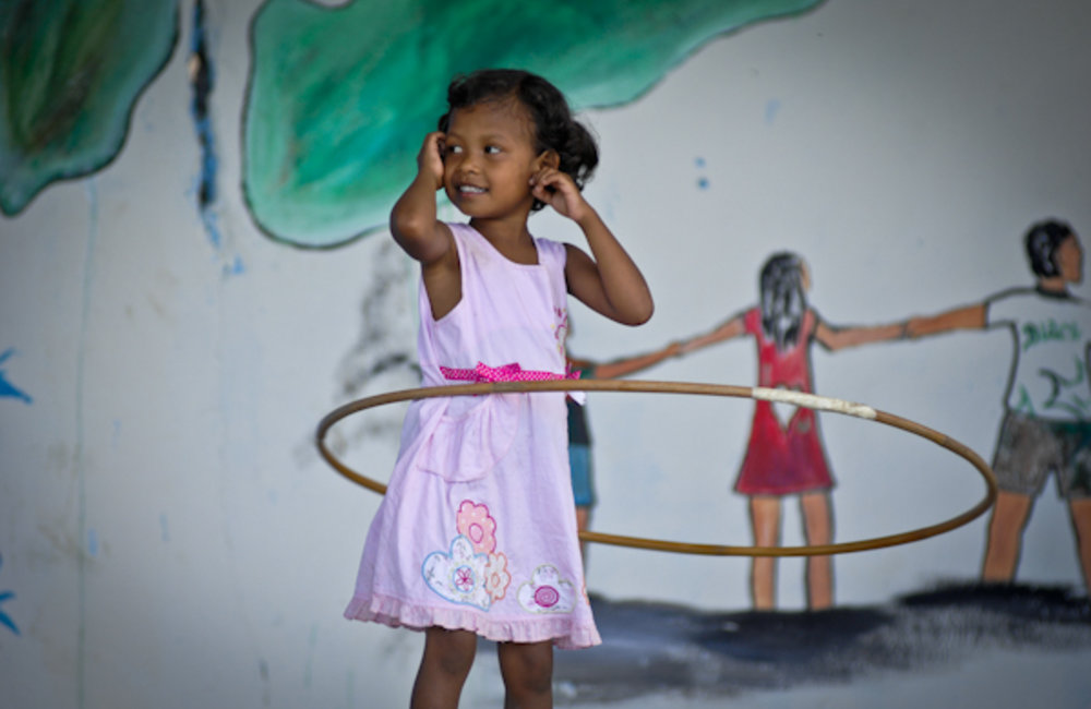 Children dance  to celebrate the World Children's Day in Viqueque district. Photo by Bernardino So