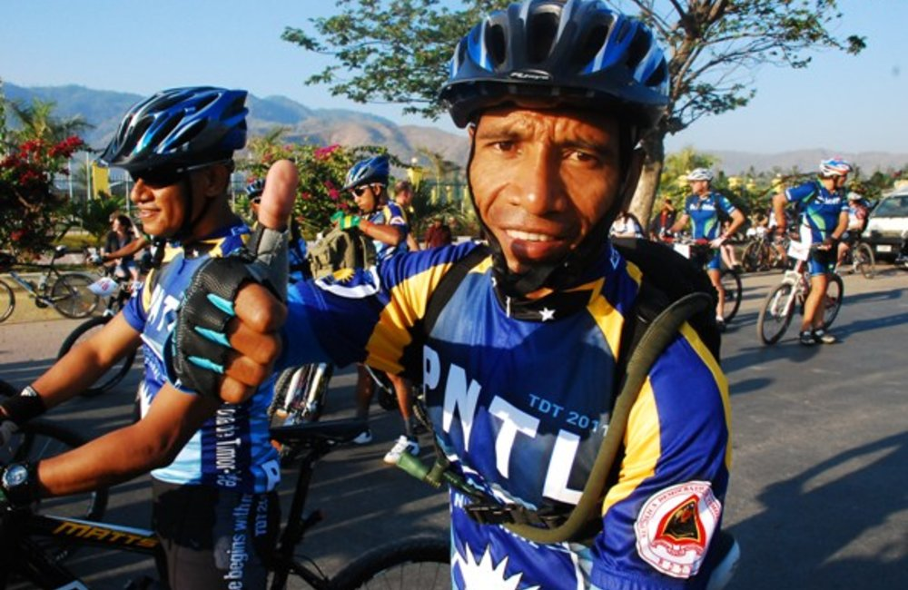The Tour de Timor, one of the world's most challenging mountain bike races started on Sunday (11 Sep