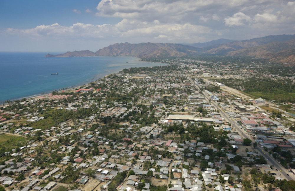 Aerial view of Dili. Photo by UNMIT/Martine Perret