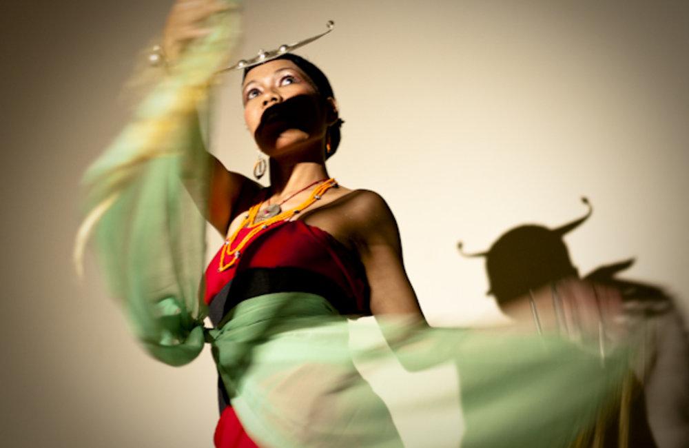 "Best of UNMIT Photo of the Day: Maria Lezarda da Piedade dances for ""Timor Furak"", a Timorese"