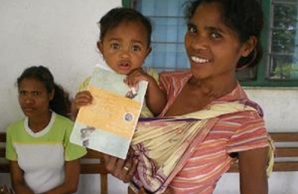 The World Food Programme supports the Ministry of Health's supplementary feeding programme, which pr
