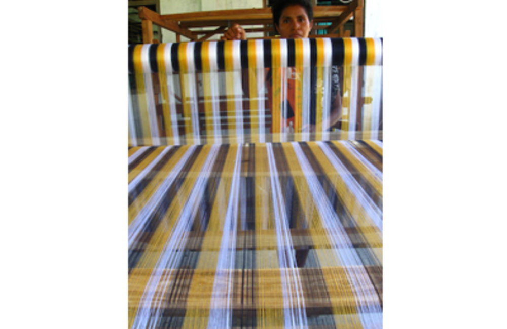 Working to improve the livelihoods of rural women is a key focus of the NGO Timor Aid's weaving pr