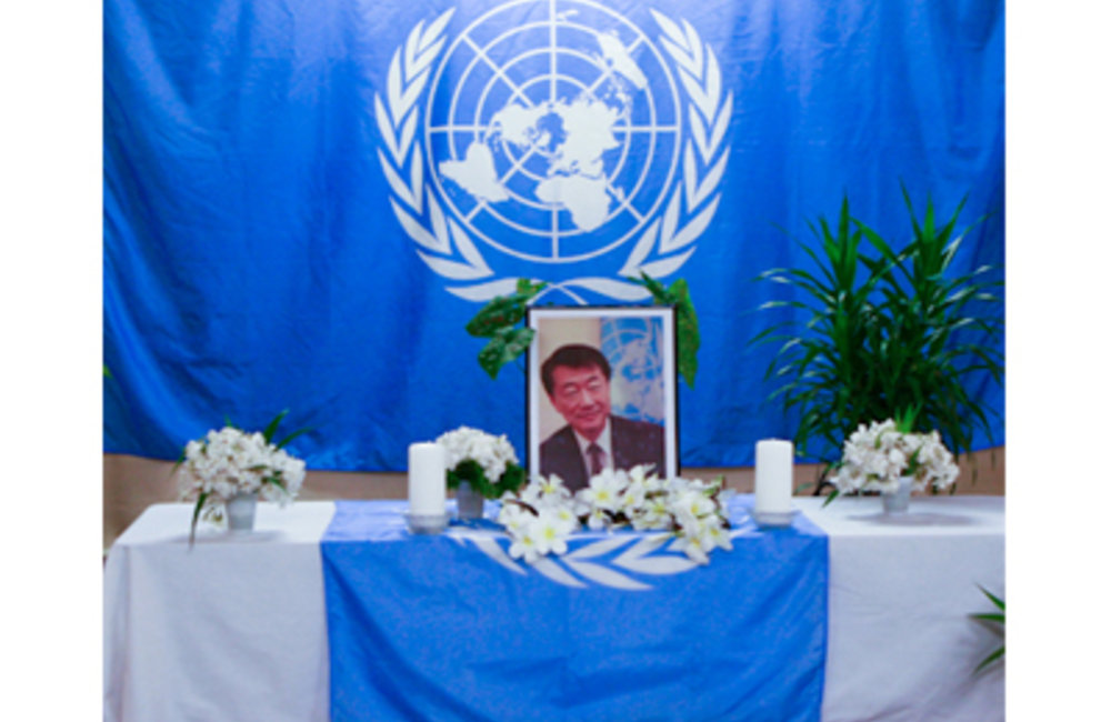 In Memoriam: the United Nations family in Timor-Leste today held a memorial ceremony at the Dili hea