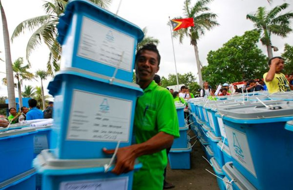Today, 16 March, 402 ballot boxes and polling booths are being moved to the Dili District sub-statio