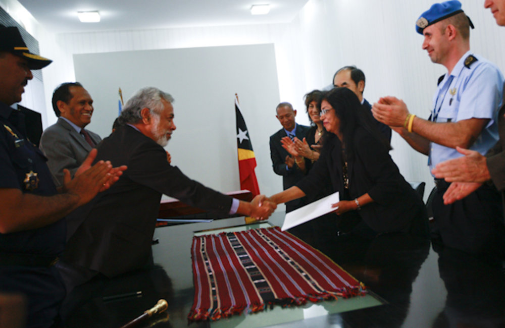 On Saturday 26 March 2011, Timor-Leste's Prime Minister Xanana Gusmao and Special Representative of