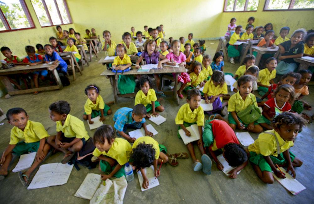 Children study in a school in Suai.Photo UNMIT/Martine Perret