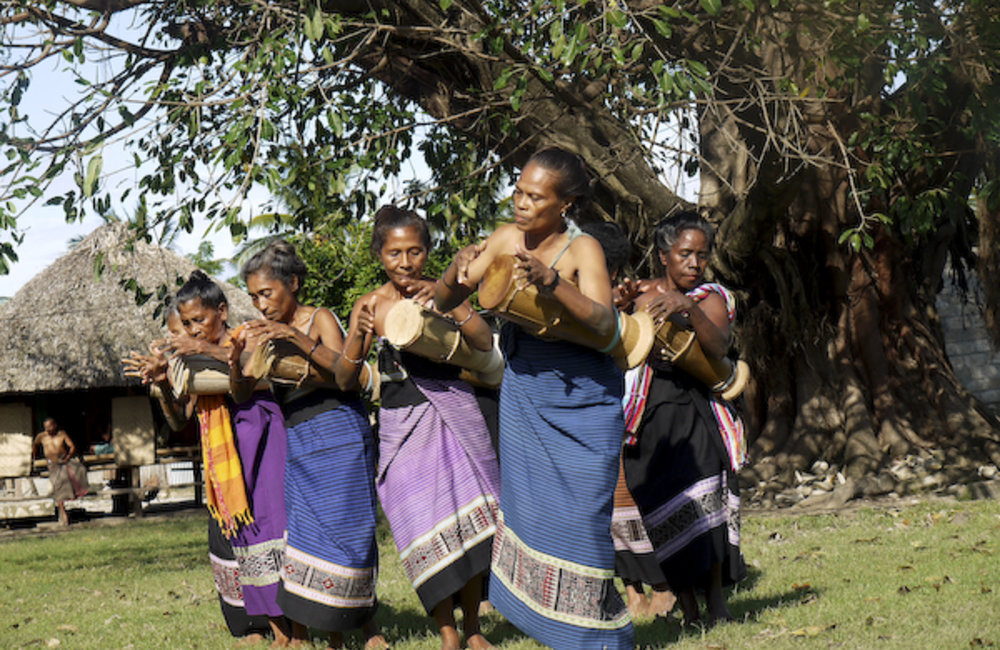 "Women from Camenasa, a sub-district of Suai, perform the traditional dance, ""Tebe-Tebe"", before init"
