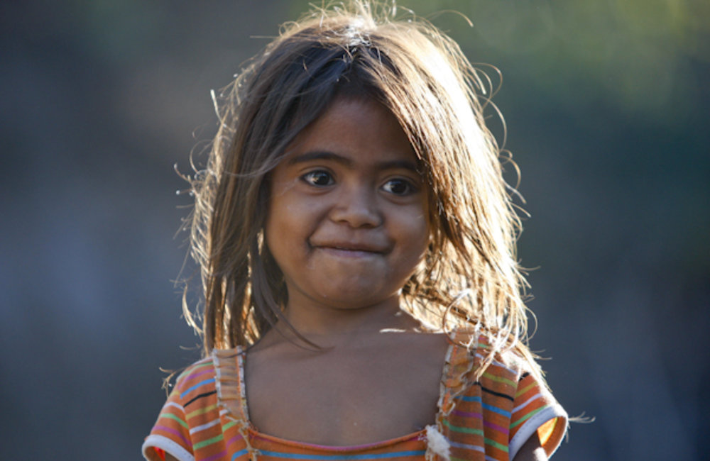 Portrait of a little girl from Pune. Photo by UNMIT/Martine Perret