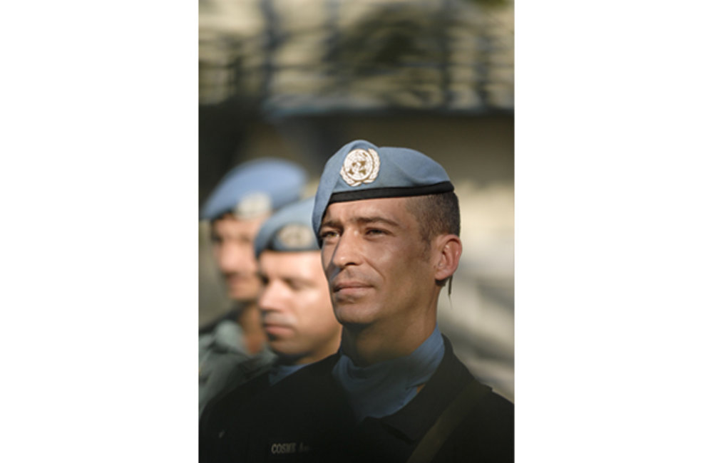 Portrait of a Portuguese peacekeeper, during a ceremony held to celebrate the UN day. Photo by UNMIT