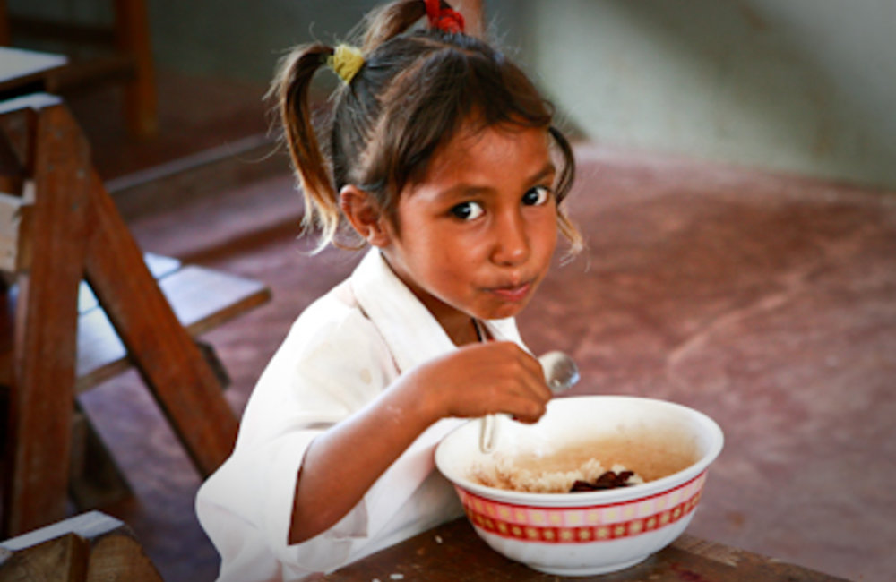 The World Food Programme helps the Ministry of Education implement a nationwide school feeding progr