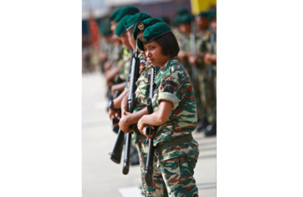 While seven per cent of recent recruits to F-FDTL were women, no women were selected for officer tra