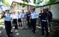 Acting SRSG visits UNPOL's traffic unit in Dili