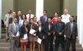 The graduation of Timor- Leste's first legal drafters of the national parliament