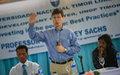 Leading world development expert Jeffrey Sachs visits Timor-Leste