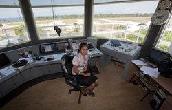 Portrait of Filomena da Costa Soares, the only female Air Traffic Controller in Timor-Leste. Photo b